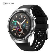 SENBONO inteligente reloj Bluetooth llamada seguidor de actividad/deporte de ECG música mujeres Smartwatch para IOS Android Teléfono Huawei