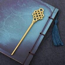 Бутик китайская заколка с бантом сохранение цвета Гальваника DIY Древний китайский стиль шпилька