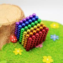 цена на 2020 New Funny Game 216pcs/set 3mm Magnetic Toys Cube Magic Cube Blocks Beads Spheres Neo Cube Puzzle Balls with Metal Box Gift