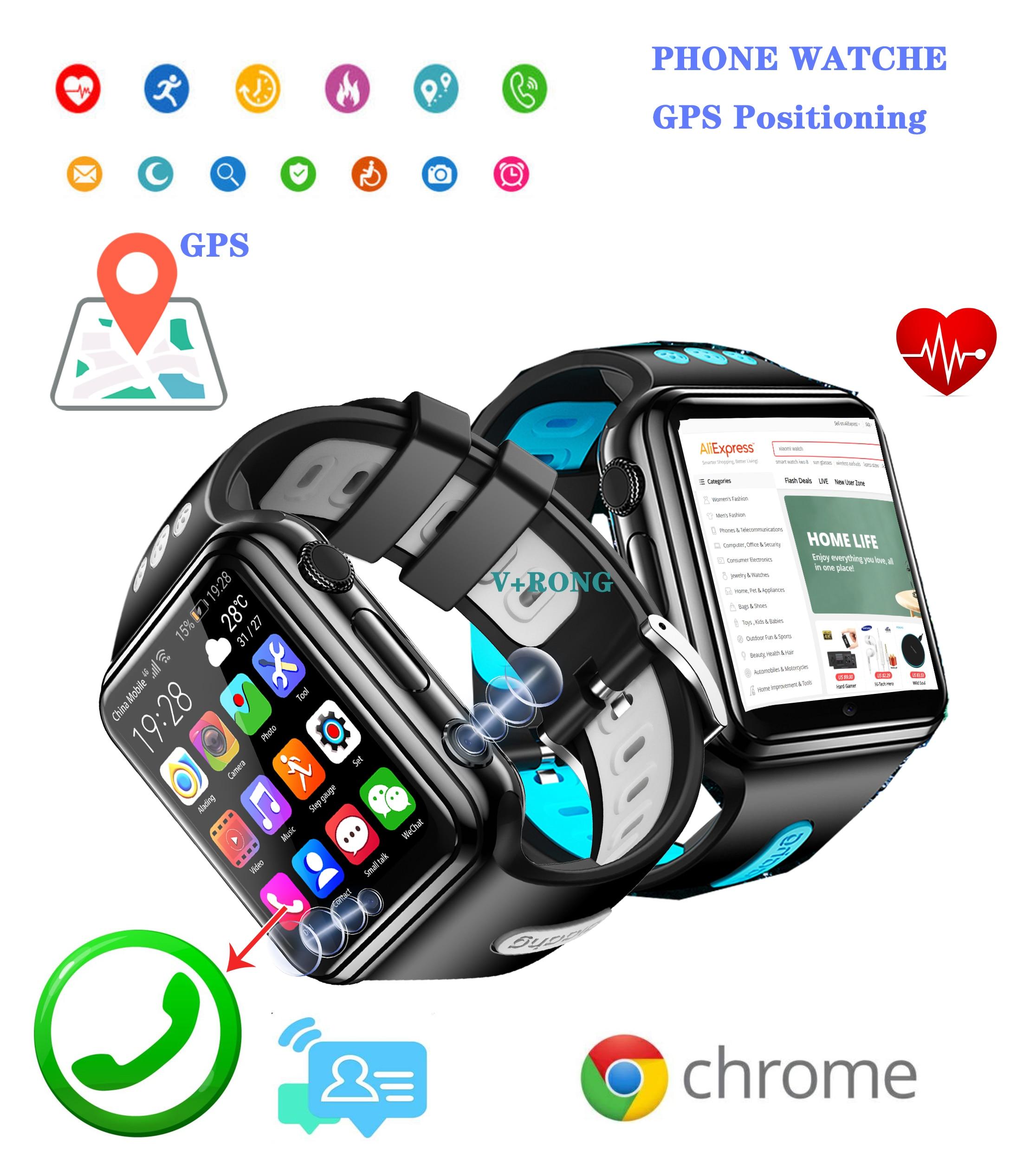 Smart Watch Nfc Kids Men And Women W5 2020 New 5G Sim Card Phone Watch GPS Positioning Waterproof NFC Payment Function Iwo 15