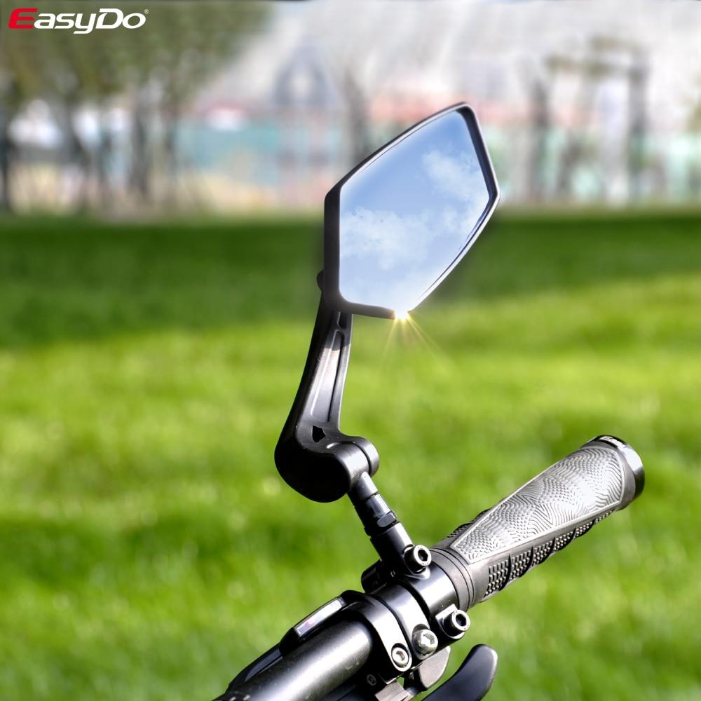 EasyDo 自転車リアビューミラーバイクサイクリングワイド範囲バック視力反射調節可能な左右ミラー