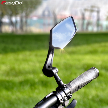 EasyDo rowerowe lusterko wsteczne rowerowe rowerowe szerokokątne lusterko wsteczne regulowane lusterka lewego prawego tanie i dobre opinie ED3171 bike mirror black 170g pc