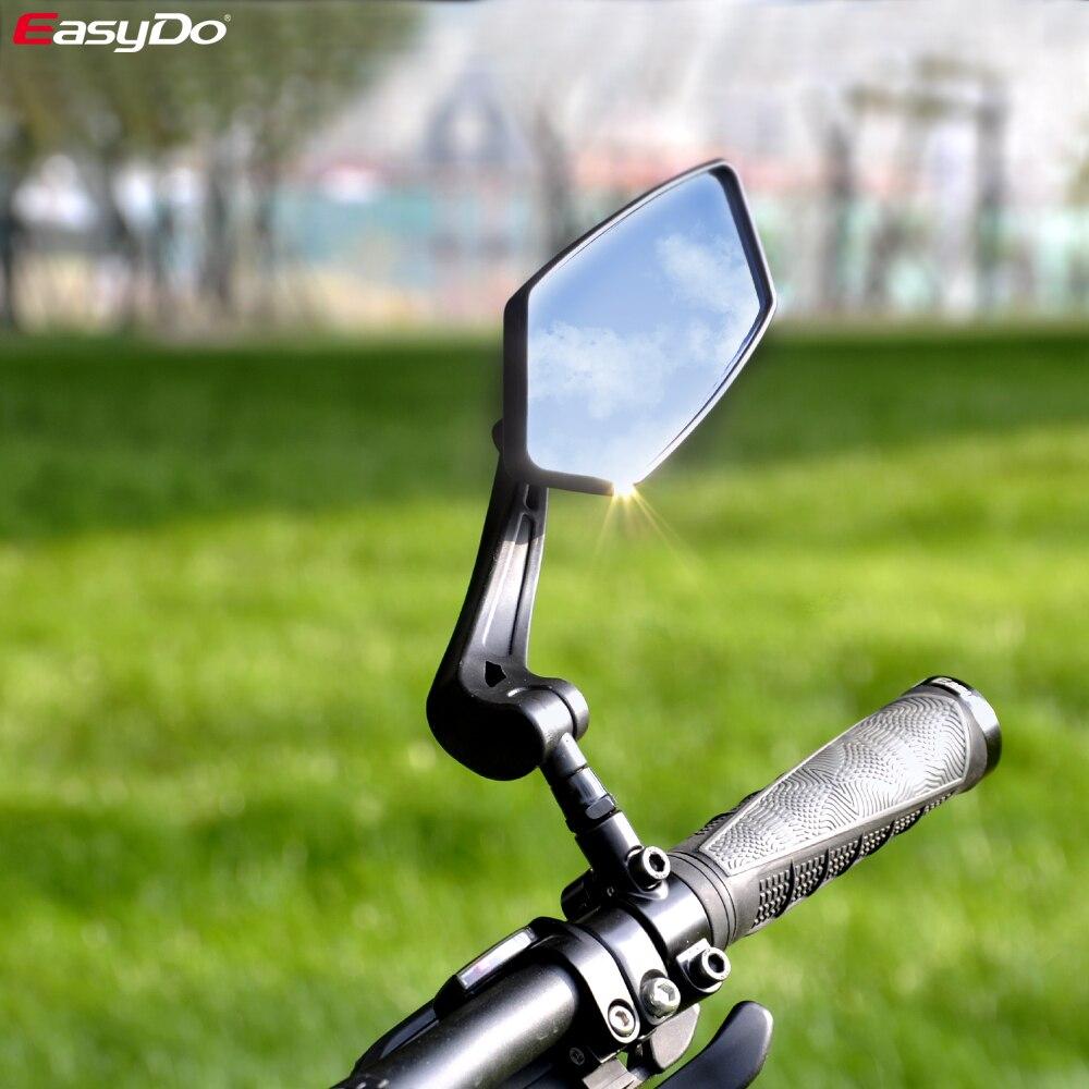 Espejo retrovisor para bicicleta EasyDo, Reflector de mirilla trasero amplio para ciclismo, espejos derecho izquierdo ajustables