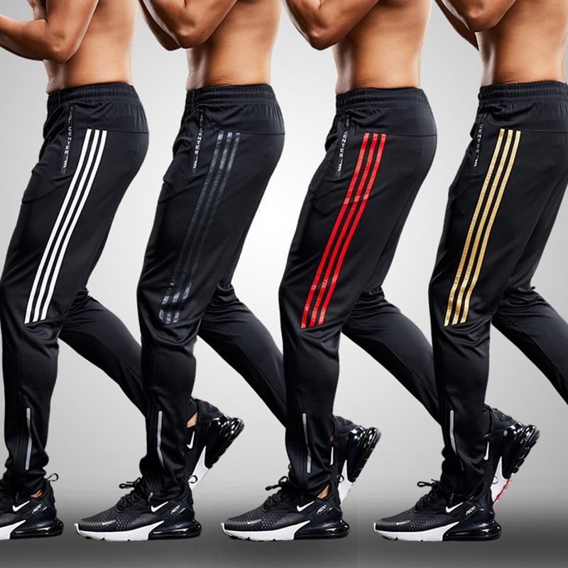 New Sports pants Men Running Pants zipper Athletic legging fitness Soccer pant Training Pant Elasticity jogging Gym Trousers 5XL