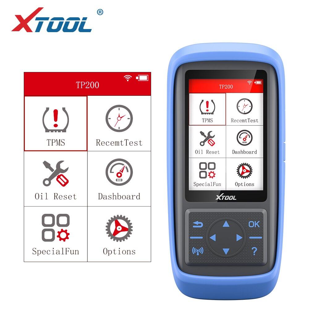 Mais recente Sistema de Monitoramento de Pressão Dos Pneus TPMS OBD2 TP200 XTOOL Ferramenta de Diagnóstico Scanner Ativar 315 433MHZ Sensor De Programação
