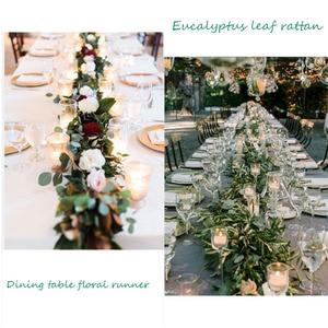 Image 5 - 1.8m מלאכותי פרח שורה רץ ירוק צמחי אקליפטוס עלים קש graland בית גן מסיבת חג המולד חתונה שולחן דקור