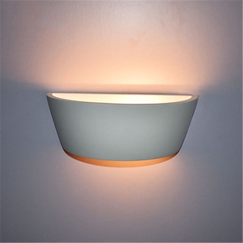 New Simple Solid Color Gypsum Led Wall Light Corridor Lamp Indoor Wall Lamp Background Wall Light Free Shipping
