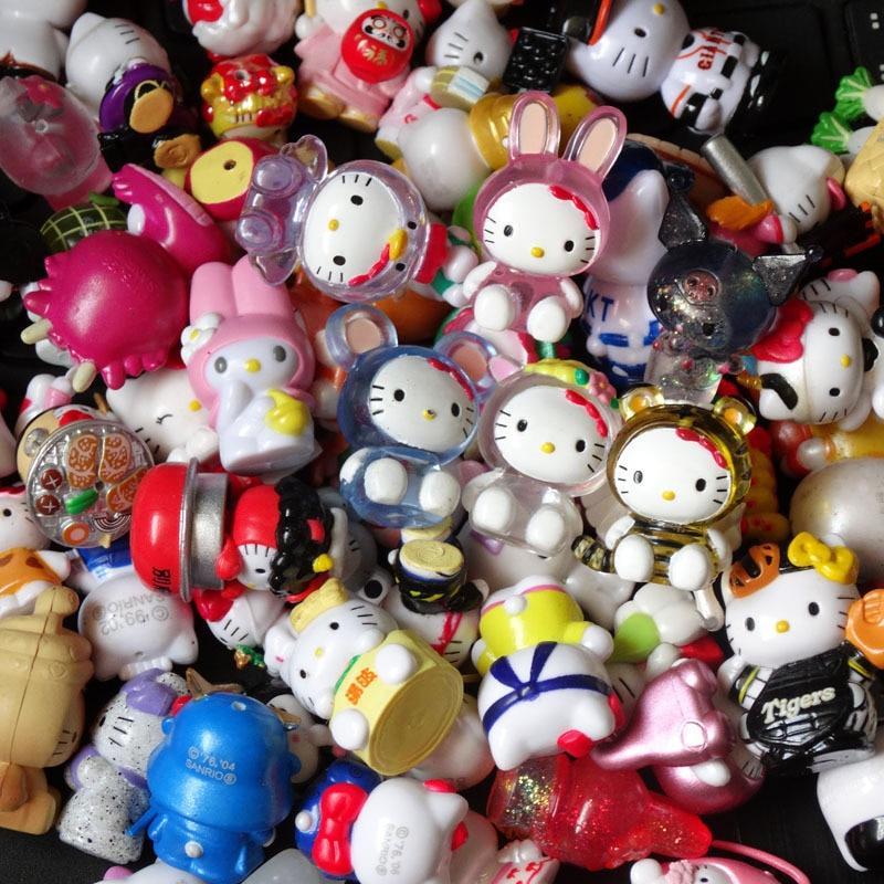 8 pçs/set Estilo Diferente Mini Figuras Olá Kitty Figuras de Ação Brinquedos Modelo Boneca Boneca Dos Desenhos Animados Modelo Original Da Disney