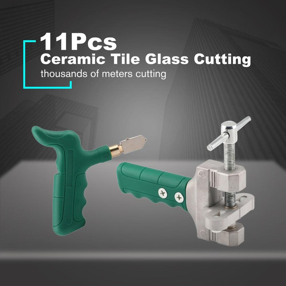 2019 New 11Pcs Ceramic Tile Glass Cutting Hand Grip Glass Knife Boundary Opener Combination Kit Thickness Glass Give Away Knife
