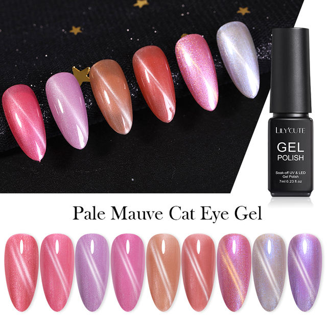 LILYCUTE 7ml Irregular Pallette Cat Eye UV Gel