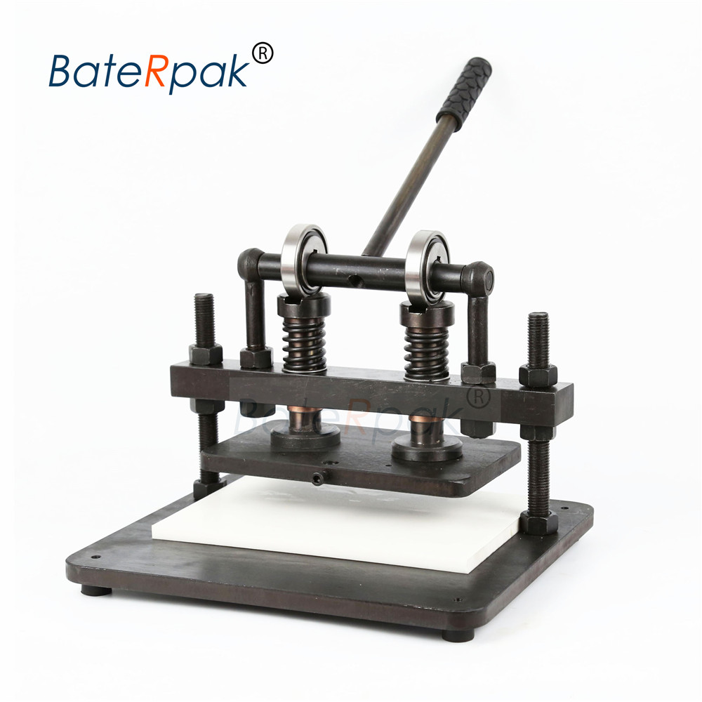 Image 5 - 26x16cm Double Wheel Hand leather cutting machine,BateRpak photo paper,PVC/EVA sheet mold cutter,leather Die cutting machinemachine cuttingmachine machinemachine die cutting -