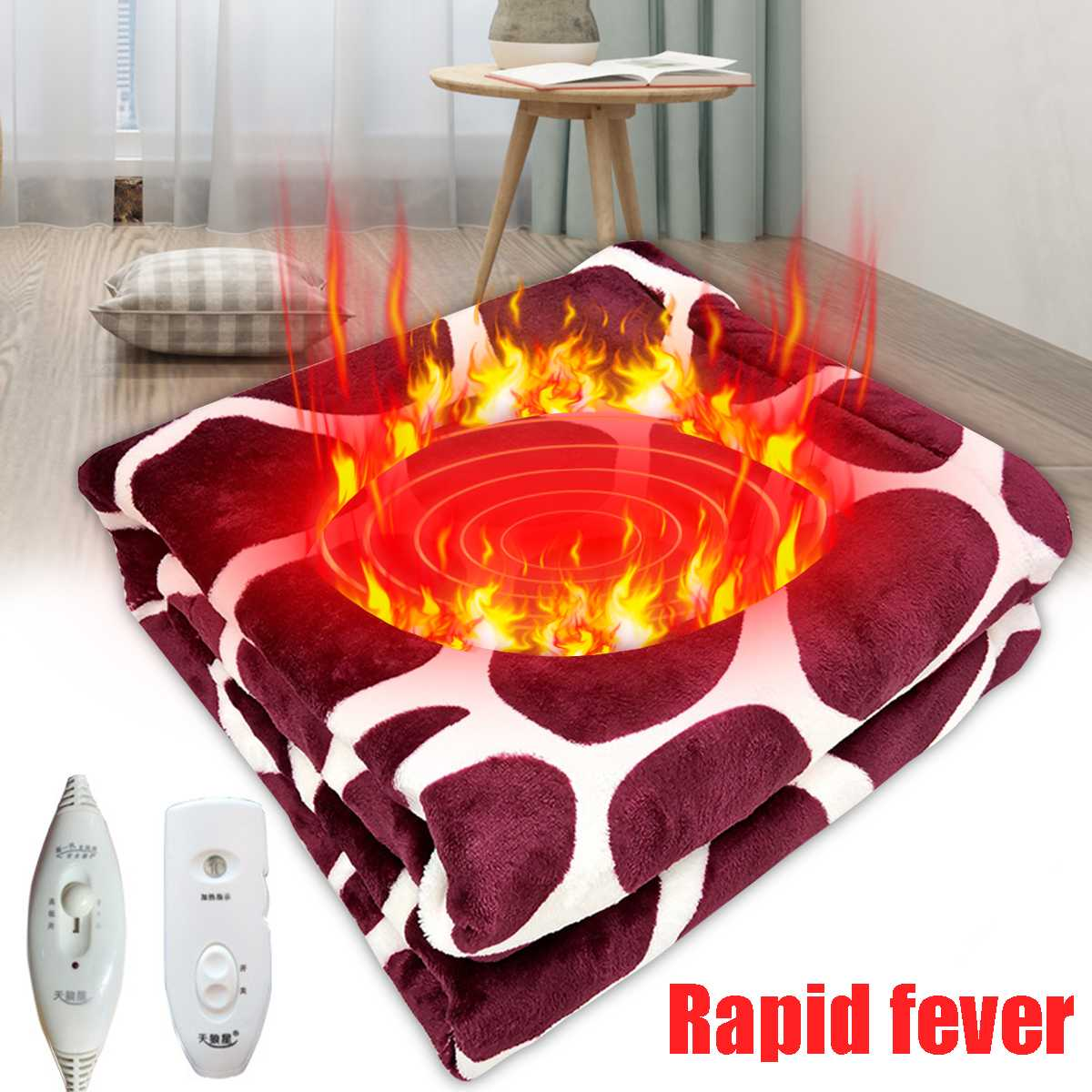 Electric Blanket 50W 220V Electric Heated Blanket Mat Heating Carpet Non-removable Warm-up Blanket Winter Heaters Pad For Beds