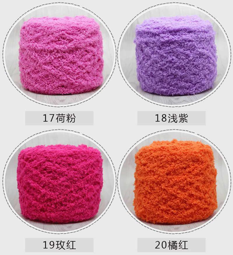 Triple Kabel Korallen Fleece Samt Woolen Garn für Weben Tasche
