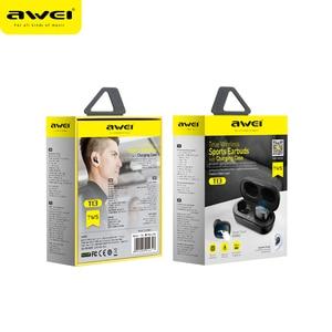 Image 5 - AWEI T13 T10C TWSหูฟังไร้สายบลูทูธหูฟังกีฬาชุดหูฟังแฮนด์ฟรีหูฟังไมโครโฟนHDสเตอริโอสำหรับXiaomi