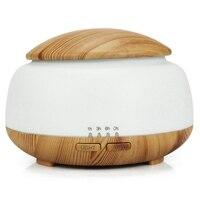 300Ml Ultraschall luftbefeuchter Aroma Ätherisches Öl Diffusor Mit Holzmaserung 7 Farbwechsel Led leuchten Für Schlafzimmer Wohnzimmer zimmer-in Luftbefeuchter aus Haushaltsgeräte bei
