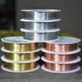 Четырехслойный разноцветный комбинезон с медным проводом для браслетов и ожерелий самодельные Украшения, Аксессуары 0,2/0,25/0,3/0,4/0,5/0,6/0,8/1,0 мм ...