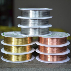 Colorfast Copper Wire For Bracelet Necklace Jewelry DIY Accessories 0.2/0.25/0.3/0.4/0.5/0.6/0.8/1.0mm Craft Beading Wire