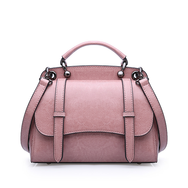 ICEV 2019 new fashion retro small genuine leather women's messenger bag top handle cowhide solid cover flap day clutch crossbody