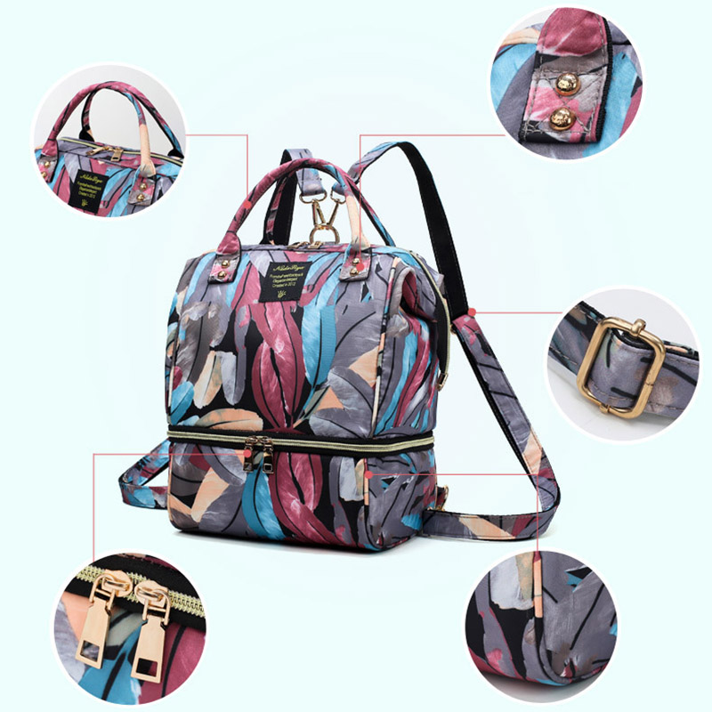 H1f7b8cf48e5d49b9bb42cf77fd3fc18ao Diaper Bag Backpack For Moms Waterproof Large Capacity Stroller Diaper Organizer Unicorn Maternity Bags Nappy Changing Baby Bag