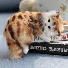 cat plush toys dolls Lovely Simulation Doll Plush Animal Cats Sleeping Real Life home decoration children toy gift цена 2017