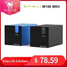 Smsl M100 Mkii Audio Dac Usb Xmos XCore200XU208 PCM768k/DSD512 Inheemse Dsd SABRE9018Q2C Thd 0.0003% Audio Decoder
