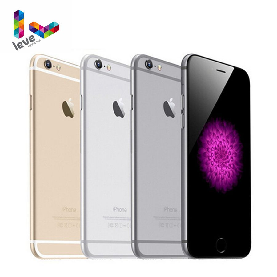 Originais Apple iPhone Desbloqueado 6 IOS Dual Core Telefone Móvel 4.7 'IPS 1GB RAM 16/64/ 128GB ROM 4G LTE Telefone Celular Usado