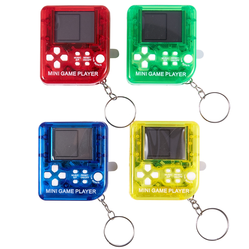 4PCS Mini Handheld Game Console Classical Game Tetris Electronic Cyber Machine Puzzle Toy for Kids Student Gift