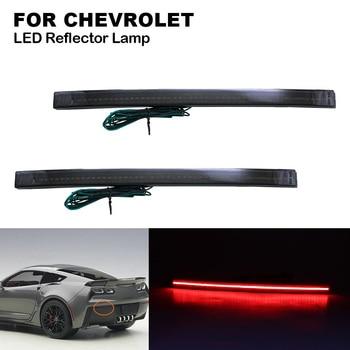 2X Smoke lens Red Light Car LED Rear Bumper Reflector Brake Lights Lamp for CHEVROLET Corvette C7 2014 2015 2016 2017 2018 2019