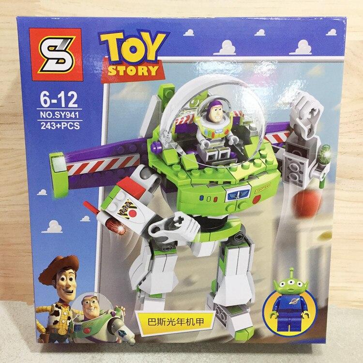 243PCS Toy Story 4 Compatible Legoinglys Original Buzzed Blocks Set Lightyear Space Mech Building Bricks Movie 2 Toys  Children