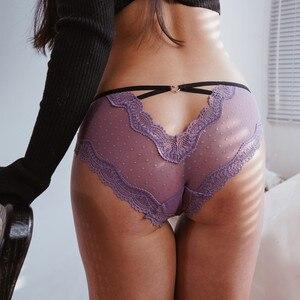 Женское кружевное нижнее белье, женское нижнее белье, сексуальные романтичные женские ажурные трусики, стринги для секса, прозрачные бесшовные трусики-стринги