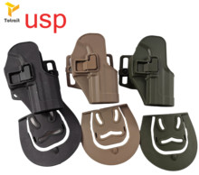 CQC Tactical Gun Holster For H&K USP Compact RH Pistol Paddle Waist Belt Paintball Army Outdoor Traning HK b