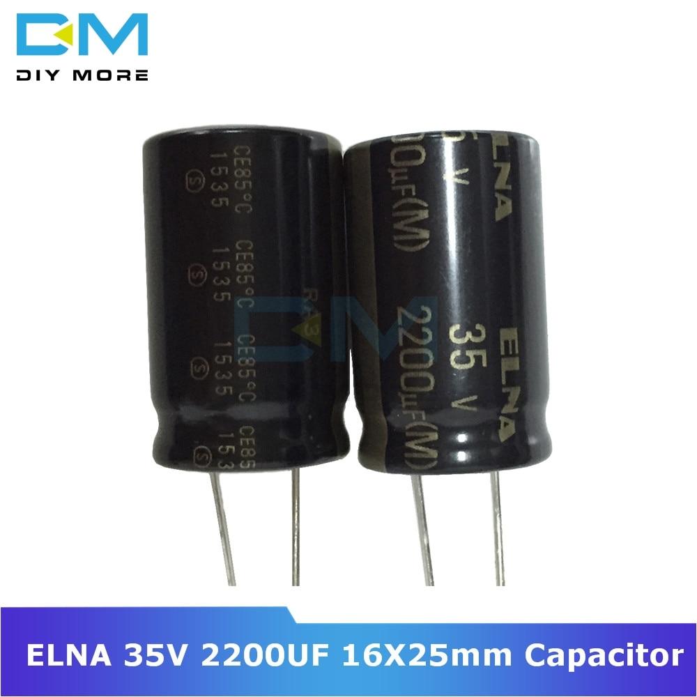 5PCS Original ELNA Audio Capacitor RA3 35V 2200uF 16*25mm Aluminum Electrolytic Capacitor Low Impedance Capacitance