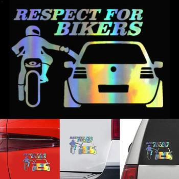 3D Respect For Cyclists Waterproof Reflective Biker Funny Accessoires Decal Motorcycle styling Car Auto Car Sticker JDM On P8R9 image