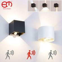 Wall-Lamp Decoration Porch-Light Motion-Sensor IP65 Outdoor Waterproof AC ZBW0002 AC90-260V