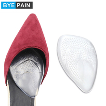 1Pair BYEPAIN Medical Gel Forefoot Shoe Insole Metatarsal Pads Ball of Foot Cushions for Women High Heels to Pain Relief bsaid 1 pair fabric gel cushions forefoot pads metatarsal ball of foot insoles antislip protector relief feet pain half inserts