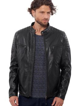 VAINAS European Brand Mens Premium Buffalo Leather jacket for men Winter Real  leather Motorcycle jackets Biker jackets Delta цена 2017