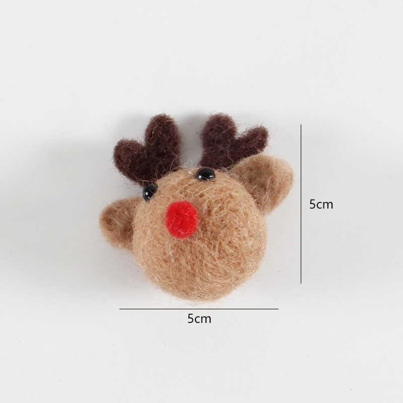 Juguete de fieltro de lana hecho a mano/muñeca Diy tela de costura adornos de costura conejo/Hamsters/broche de Anime accesorios decorativos de Kitting