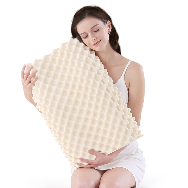 NOYOKE Orthopedic Sleeping Bed Pillow Cervical Massage Natural Latex Release Pressure Pillows for Living Room 2