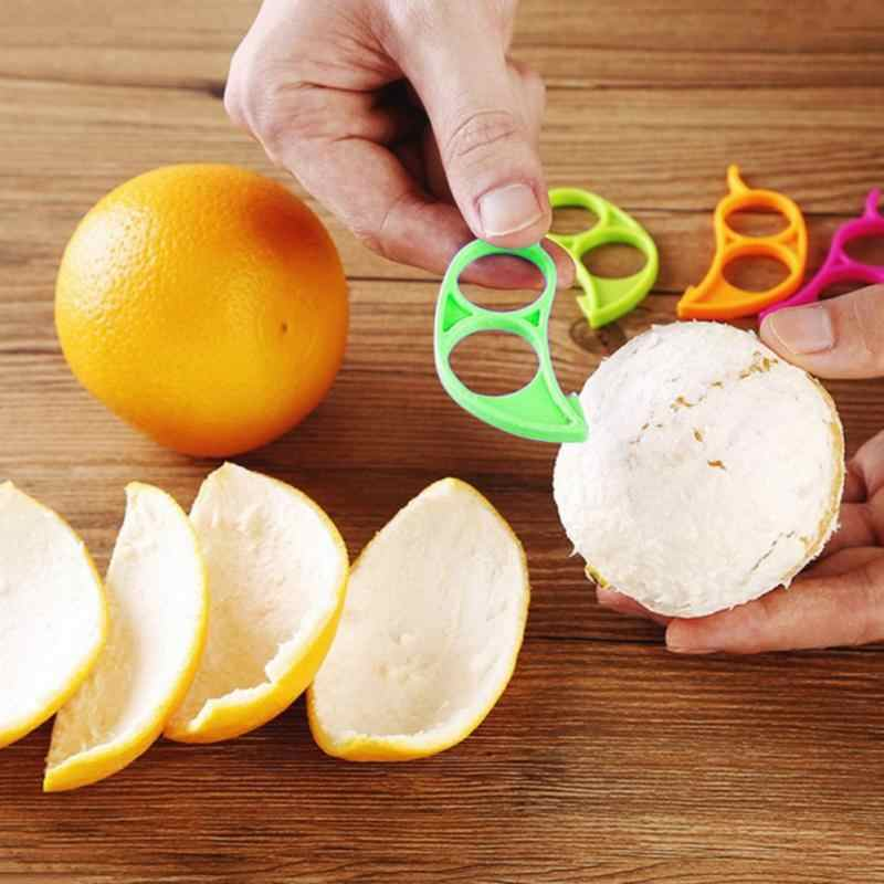 1 pçs laranja citrus descascador slicer limão frutas removedor de pele cortador rapidamente descascando gadgets cozinha