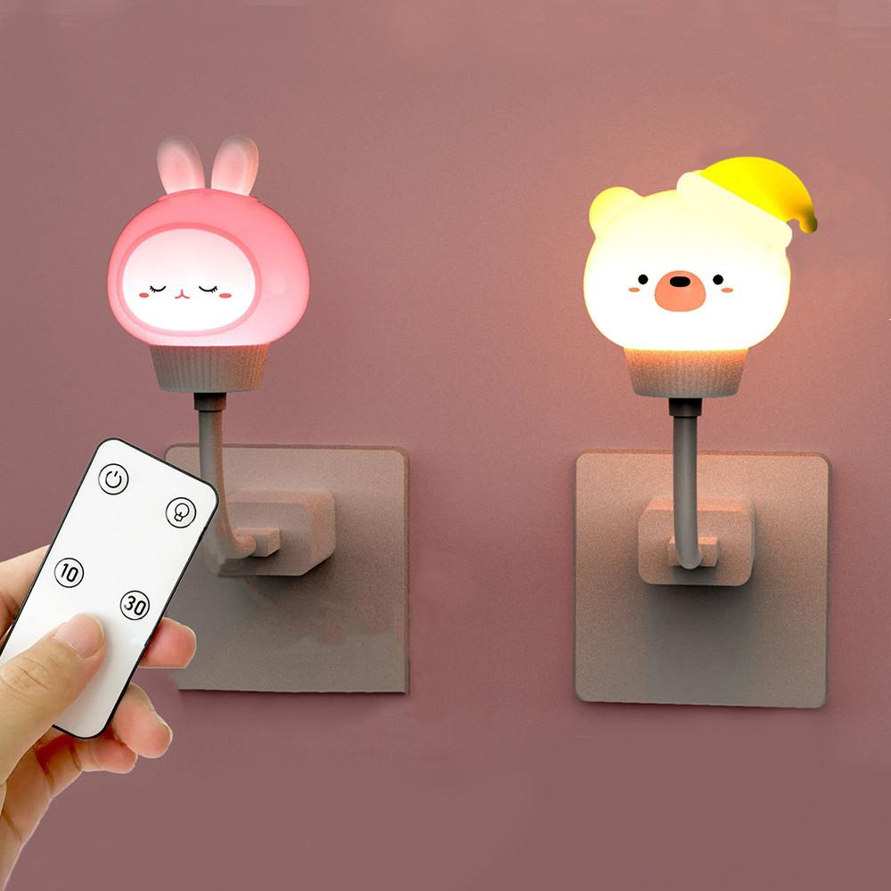 Night Light Children's Lamp USB LED Night Lamp Bear Rabbit For Baby Night Light Bedroom Decor Gift Kid Lamp