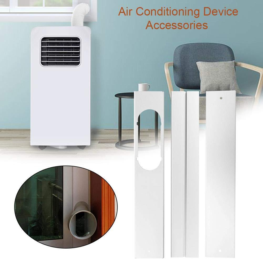 New 3Pcs/Set Universal PVC Adjustable Well-sealed Window Kit Plate For Portable Air Conditioner Easy Installation