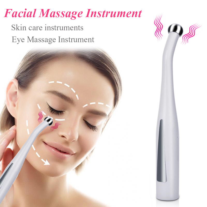 2 in 1 Inductive Electric Face Eye Massager Anti Wrinkle Aging Eye Massage Machine EMS Negative Ion Importing Eyes Care Device Pakistan
