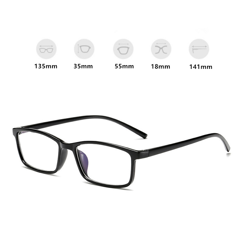 Anti Blue Rays Glasses Blue Light Radiation Blocking Glasses Men Women Computer Goggles Anti-UV UV400 Flat Mirror Eyeglasses