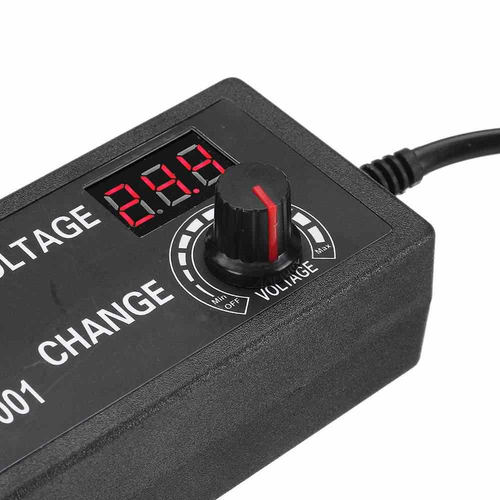 Excellway 3-24V 3A 9-72W Dispay AC/DC Adapter Geregelte Netzteil 12V DC Spannung Regulator Adapter