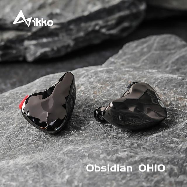 Ikko Obsidian سماعة رأس HIFI OH10 1BA 1DD ، داخل الأذن ، موسيقى ، Knowles ، Sonion BA Monitor ، hi fi ، حمى ، كابل قابل للفصل ، سماعات أذن