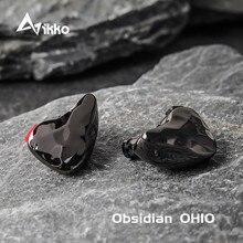 Ikko Obsidian OH10 1BA+1DD In ear HIFI Music Headphones Knowles Sonion BA Monitor Hi fi Fever Detachable Cable Earphone Earplugs