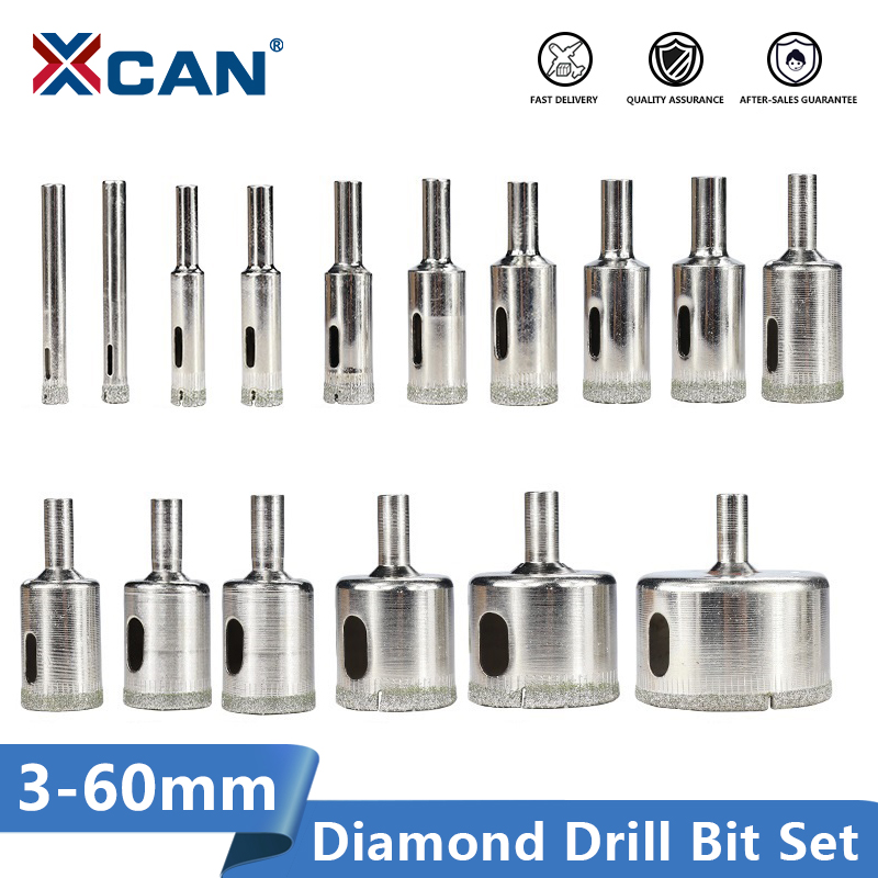 XCAN Diamond Coated Drill Bit 3-60mm For Tile Marble Glass Ceramic Hole Saw Drill Diamond Core Bit