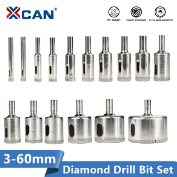 цена на XCAN Diamond Coated Drill Bit 3-60mm for Tile Marble Glass Ceramic Hole Saw Drill Diamond Core Bit
