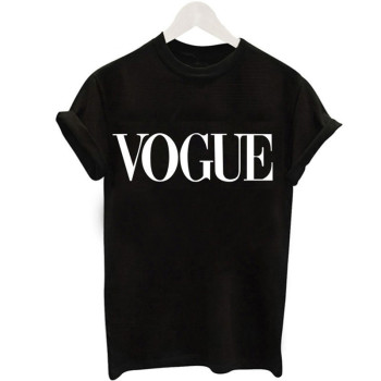 2019 New Women T-Shirts Summer Fashion VOGUE O-Neck T shirt Female Tee Tops Casual Woman T-shirts Plus Size