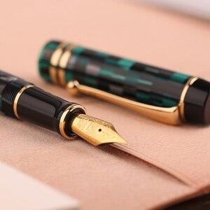 Image 4 - Pluma estilográfica celuloide Moonman M600, pluma estilográfica de Alemania Schmidt Punta fina 0,5mm, excelente caja de regalo de escritura para oficina, suministros para bolígrafos